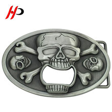 HPB11 Wholesale Fashion Zinc Alloy Knife Logo Italy Skull Tactical Belt Buckle Beer