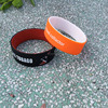 Double color silicone bracelet, outside and inside different color silicone wristband