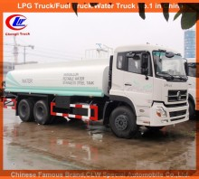 Heavy duty Dongfeng water truck Stainless steel water tank truck 20000L drinking Water transport truck