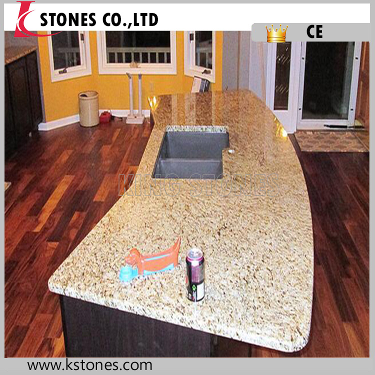 "Chinese granite tiger skin yellow granite prefab96""x25""countertop"