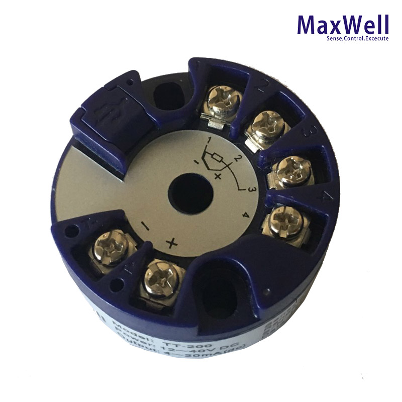 China Maxwell high quality Pt100 temperature transmitter