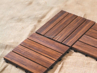 Bamboo Tile Unit Made in China with DIY Design Carbonized Color-KE-OS0825