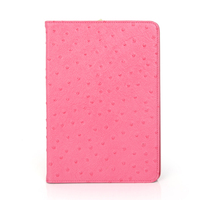 9.7 inch ostrich pattern leather tablet cases for ipad 2/3/4