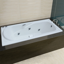 NH-018-M 1500/1700mm durable built in Message CAST IRON BATH TUB