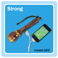 available supply power for mobile power led rechargeable flashlight power bank led torch