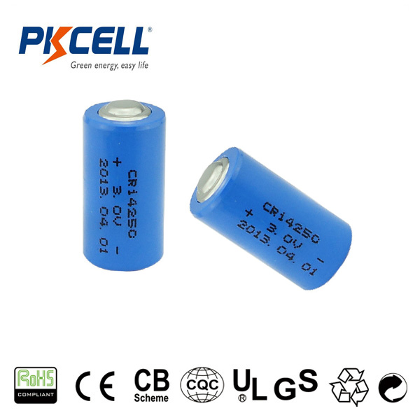 2017 pkcell factory price 3V LiMnO2 CR14250 lithium cylindrical battery