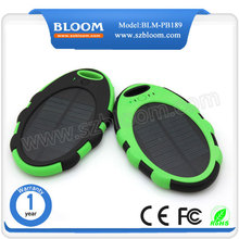 Oval portable smart mobile solar panel 5000mah