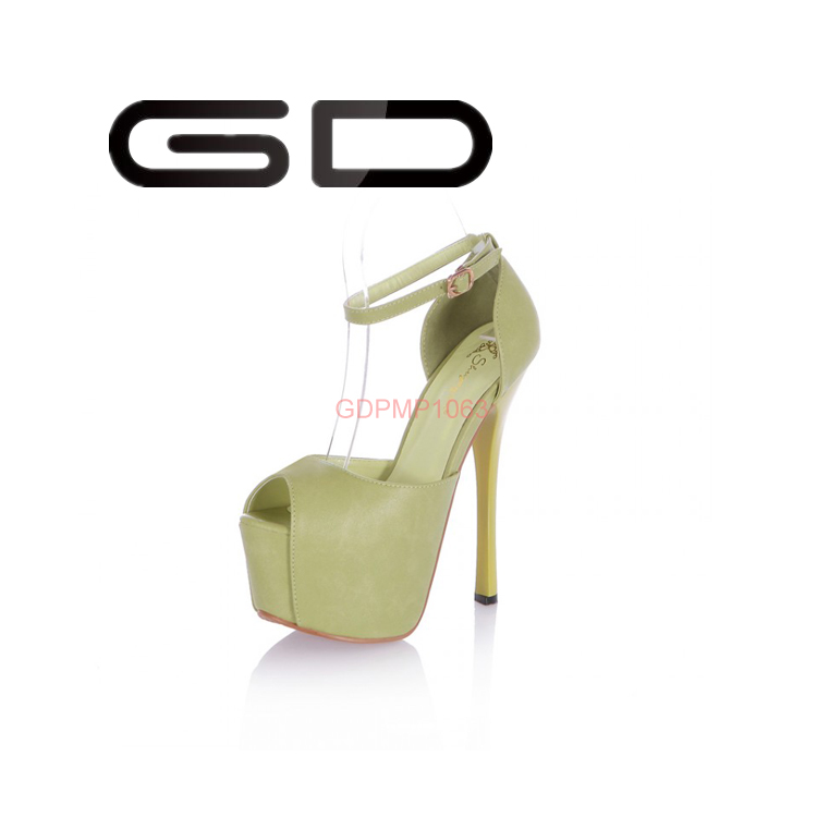GD gladiator pure four bright color over high heel girls sexy sandal shoes