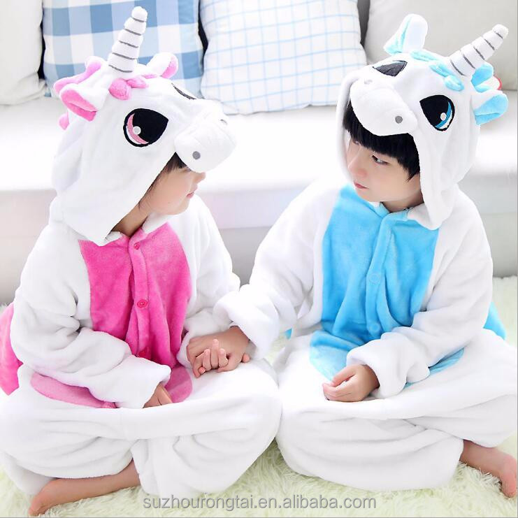 wholesale animal costume sexy Unicorn /Pegasus onesie pajamas flannel kigurumi sleepwear unisex for kids