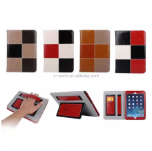 Multifunctional Contrast Color PU Leather Handheld Case for iPad Air 2 with Stand and Card Slot