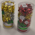 Solid Color Gloss Metallic Star Bow And PP Ribbon Roll