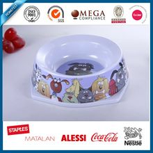 pet products composite resin melamine bowl
