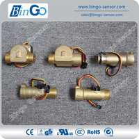 All connections flow sensor, quick connection and threading brass water flow sensor