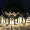 10 LED iron small house outdoor string lights