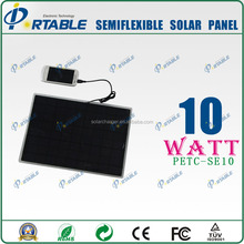 2015 portable flexible solar panels for boats 10w solar panel backpack