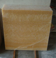 China Yellow Honey Onyx Marble Floor Tiles