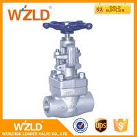 WZLD F304(L) F316(L) F347 Material Cast Iron Resilient Self Threaded Welded Seal Gate Valves