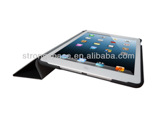 stand Flip leather case for ipad air with three fold