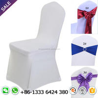Cheap white spandex chair cover for wedding banquet hotel