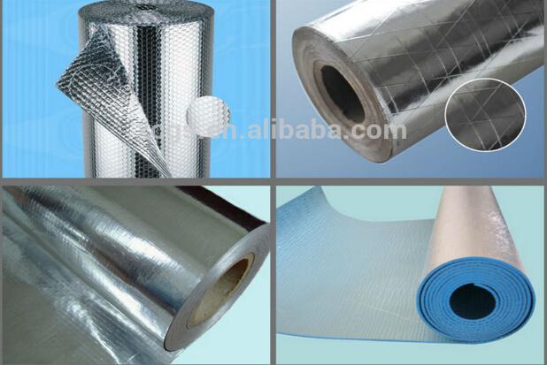 Aluminum Pipe Insulation : Aluminum foil air bubble insulation roll buy double