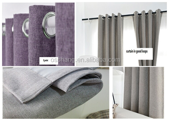 100 polyester blackout curtain 140cm*240cm