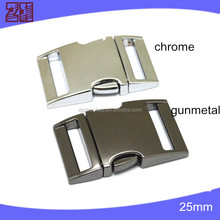 metal 1'' side release buckle,metal buckle for bag,metal gold buckle