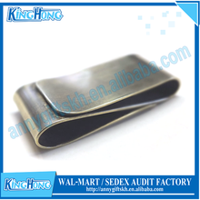 Customized logo stainless steel double sided money clip