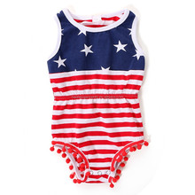 Patriotic july 4th boutique clothing plain baby wholesale rompers