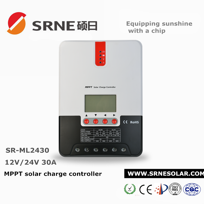 SRNE charge controller MPPT with 4 stage charge SR-ML2430 30A regulator