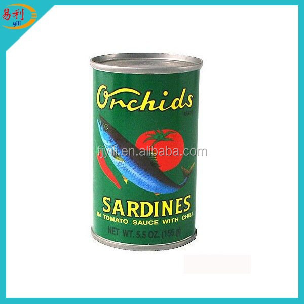 3-5pcs 2-4pcs 2-3pcs 425G sardine canned fish safi Canned Sardine In Brine SLSI Standard