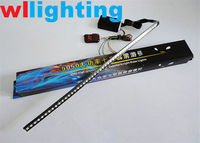 Car light 56cm 48 LED Knight Rider Lights Strobe flash 5050 LED Strip motorcycle car Light+remote control