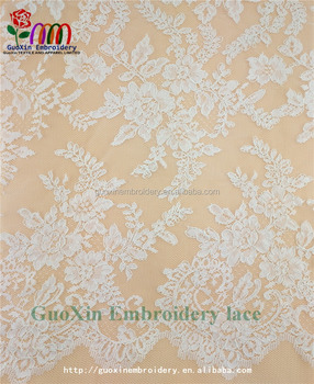 2016 Wholesale elastic Jacquard lace fabric for garment
