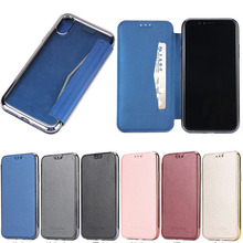 Luxury Ultra Thin Magnetic Flip Leather Case for iphone X, for iphone X Wallet PU Leather Stand Case With Card Slot