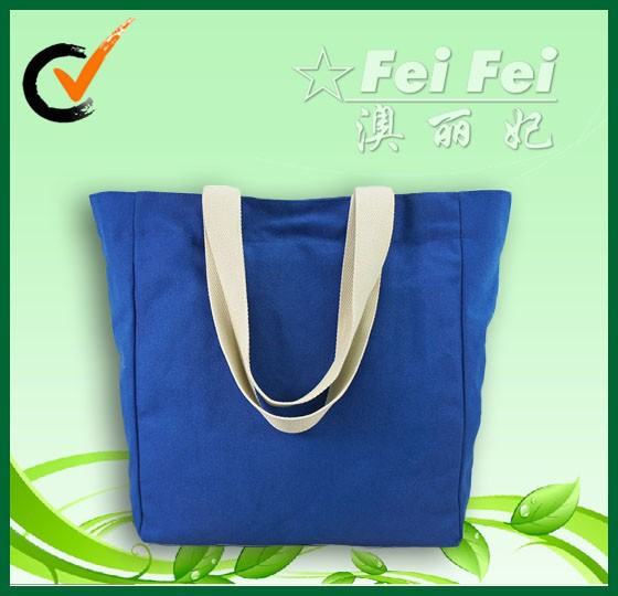 China FeiFei factory 100% fabric cotton canvas hand tote bag