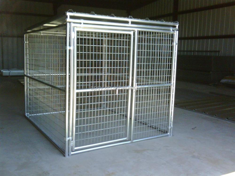 collapsible heavy duty Indestructible escape proof steel dog crate