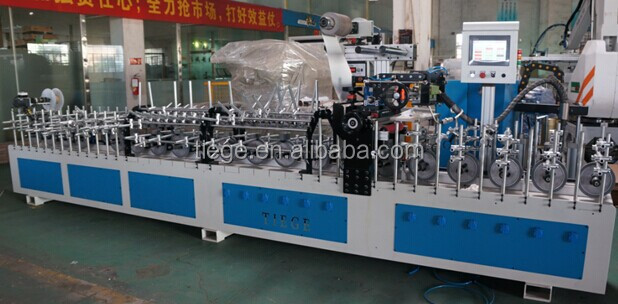 PUR Multifunction three shapes profile wrapping machine