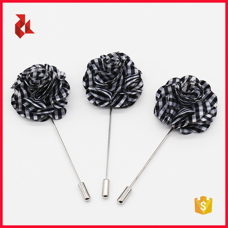 High Quality Mens Suit Custom Flower Lapel Pins