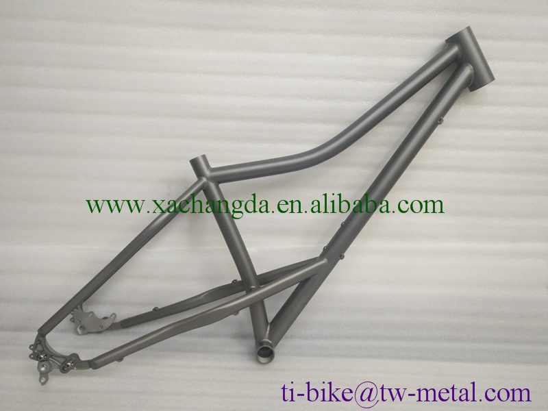 Cheaper Titanium fat bike frame with rocker dropouts XACD Titanium snow bicycle frame with sand blasting finished Custom Ti fat