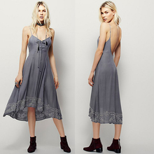 Flowy Lace Up Moda <span class=keywords><strong>Ropa</strong></span> de <span class=keywords><strong>Estilo</strong></span> <span class=keywords><strong>Bohemio</strong></span>