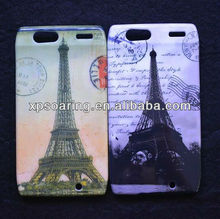 Tower designed plastic case cover for Moto razr XT910