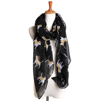 Wholesale Fashionable Women Delightful Doggies Print Scarf Scarves