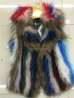 Fancy Beautiful Women Fur Winter Clothes Genuine Raccoon Fur Coat