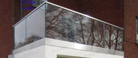 PRIMA laminated glass or stainless steel garden or balcony handrail