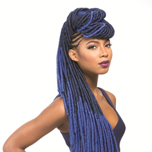 factory wholesale hard/soft texture dread locks crochet hair in stock 15roots/pack 110g