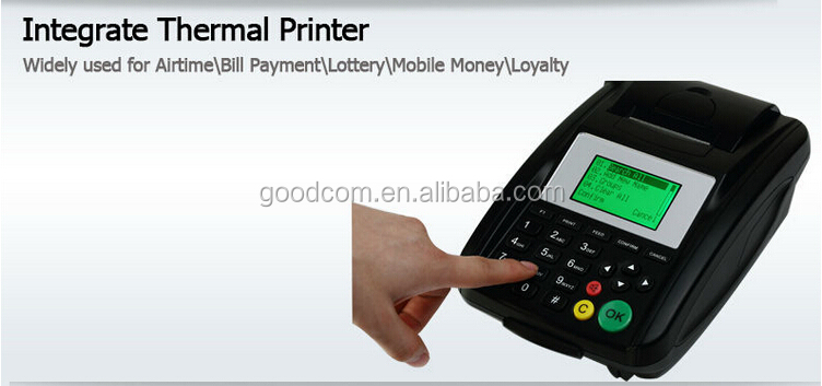 Wireless GSM GPRS Voucher Terminal Machine for Airtime Topup, MPESA Mobile payment
