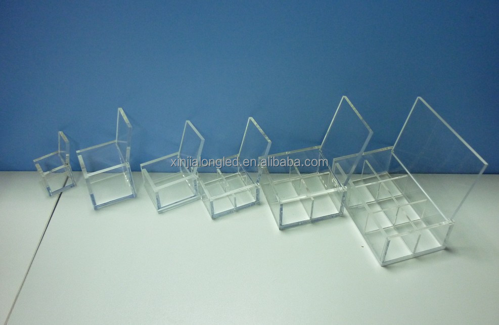 See Through Clear 3 Tier Lucite Perspex Organizer Box Acrylic Desktop Organizer Drawer Acrylic Glasses Display Box