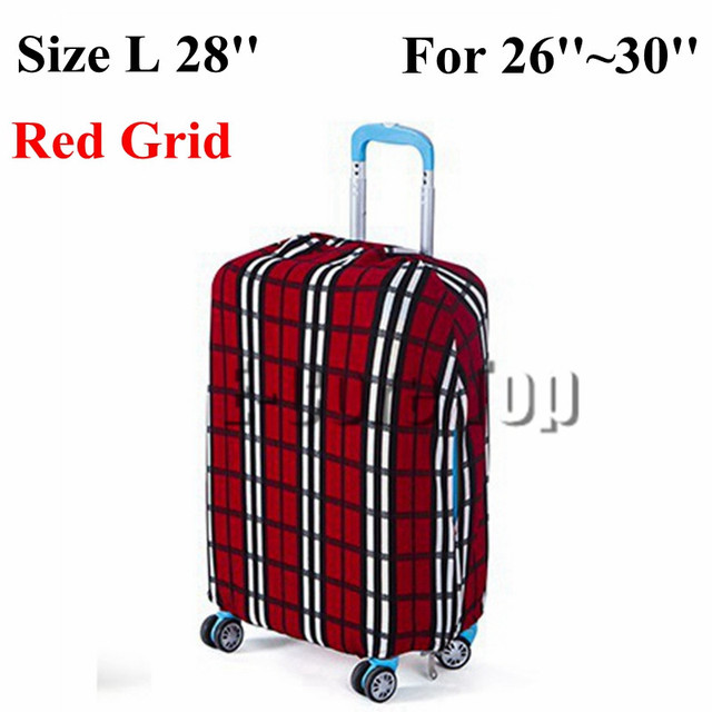 Travel on Road Luggage Cover Protective For Trunk Case Apply to 18''~30'' Suitcase Cover Thick Elastic Perfectly