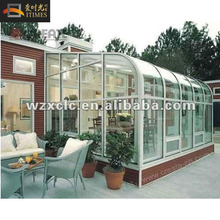 European style curved outdoor sun room sunshine garden summer green houses