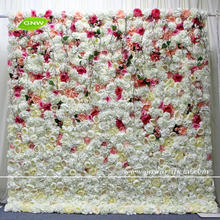 GNW FLW1707006 High quality artificial mix color wedding roll up flower wall backdrop for wedding