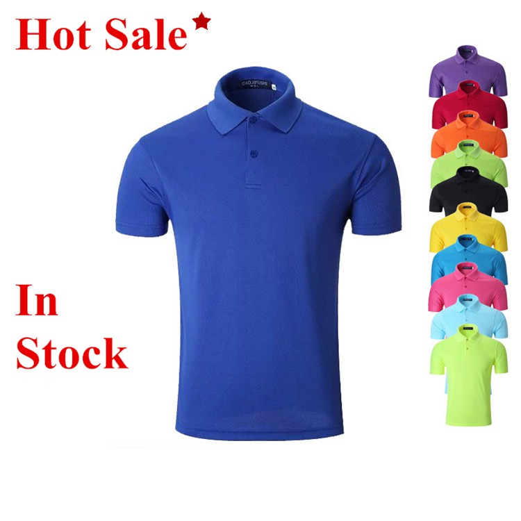 LOW MOQ Wholesale Cheap Polo Shirt 100% Polyester in Stock